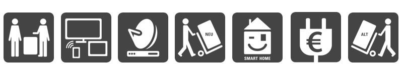 Service Beratung Multimedia Smar-TV SAT-Planung Energieberatung Lieferung und Entsorgung