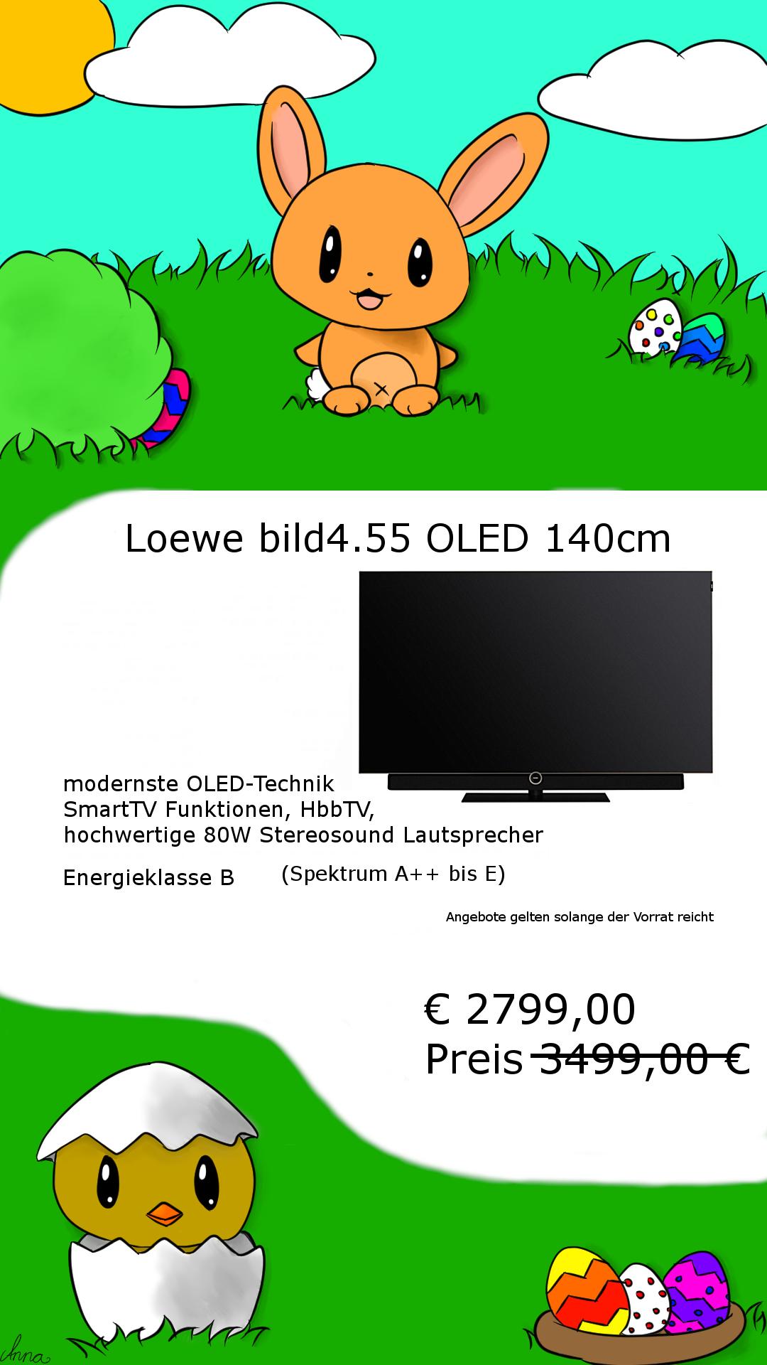 Oster Sale Loewe bild OLED TV zum Hammerpreis günstiger geht es nicht