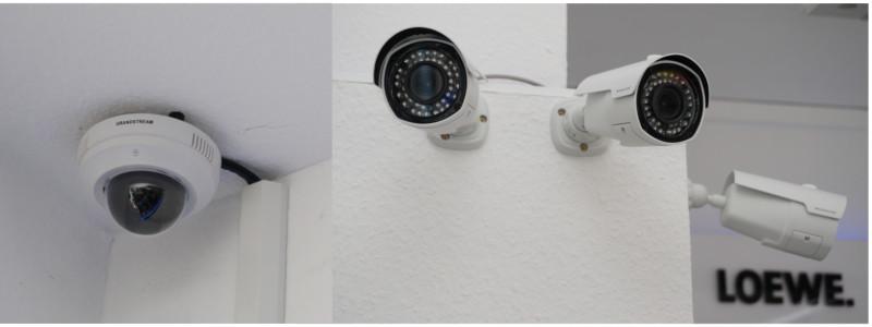 Überwachungscamera Sicherheit durch Aufzeichnung