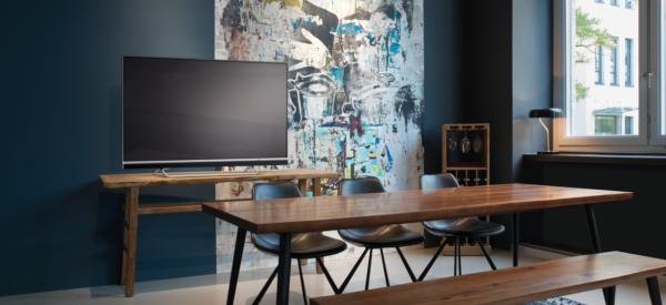 Metz blue Android TV 8.0 Smart TV für Netflix google play Sprachsteuerung und andere Apss Spiele Filme Musik