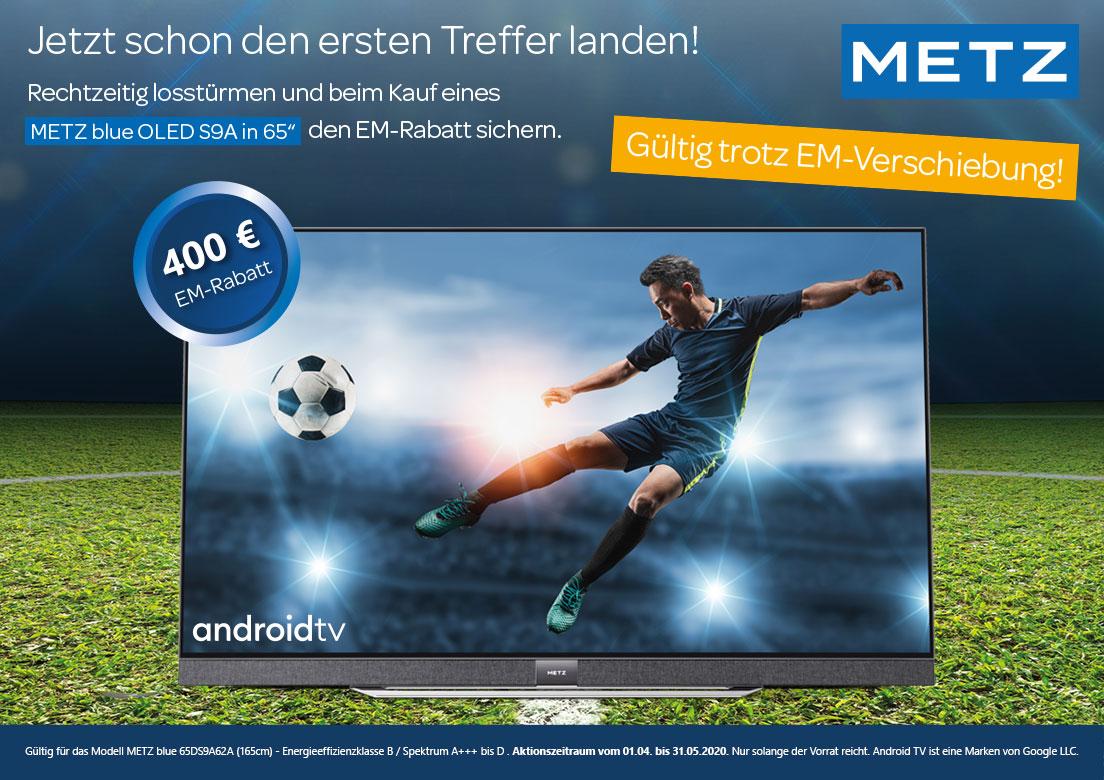 Metz Blue 65 Zoll Aktion 400 EURO Rabatt