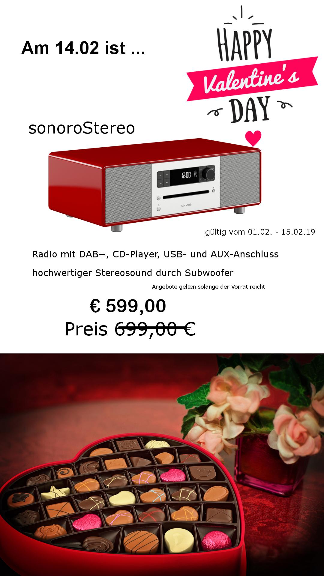 sonoro stereo 2 - Valentin 2020 euro 599