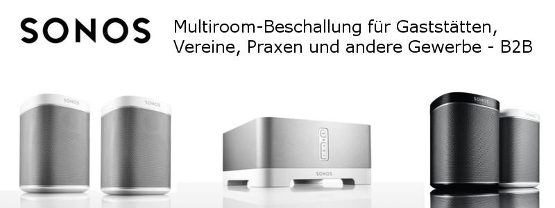 SONOS Beschallung per WLAN kabellos - jeder Lautsprecher einzeln einstellbar -Streaming - Bluetooth