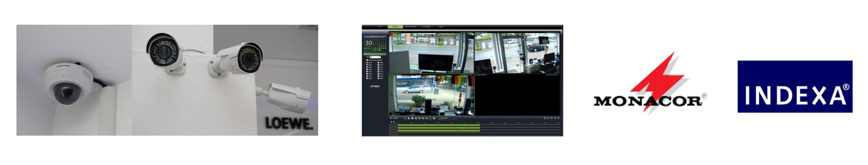 Überwachungsanlagen - unsere Produkte von Monacor und Indexa